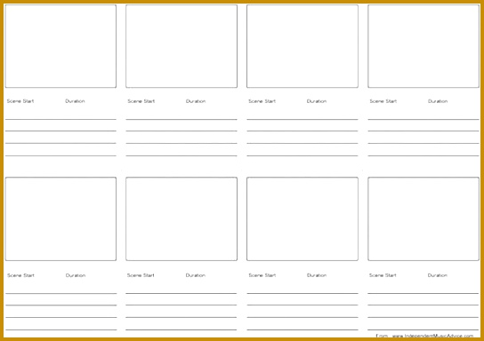 Printable Storyboard Template for Music Video MS Word 384544
