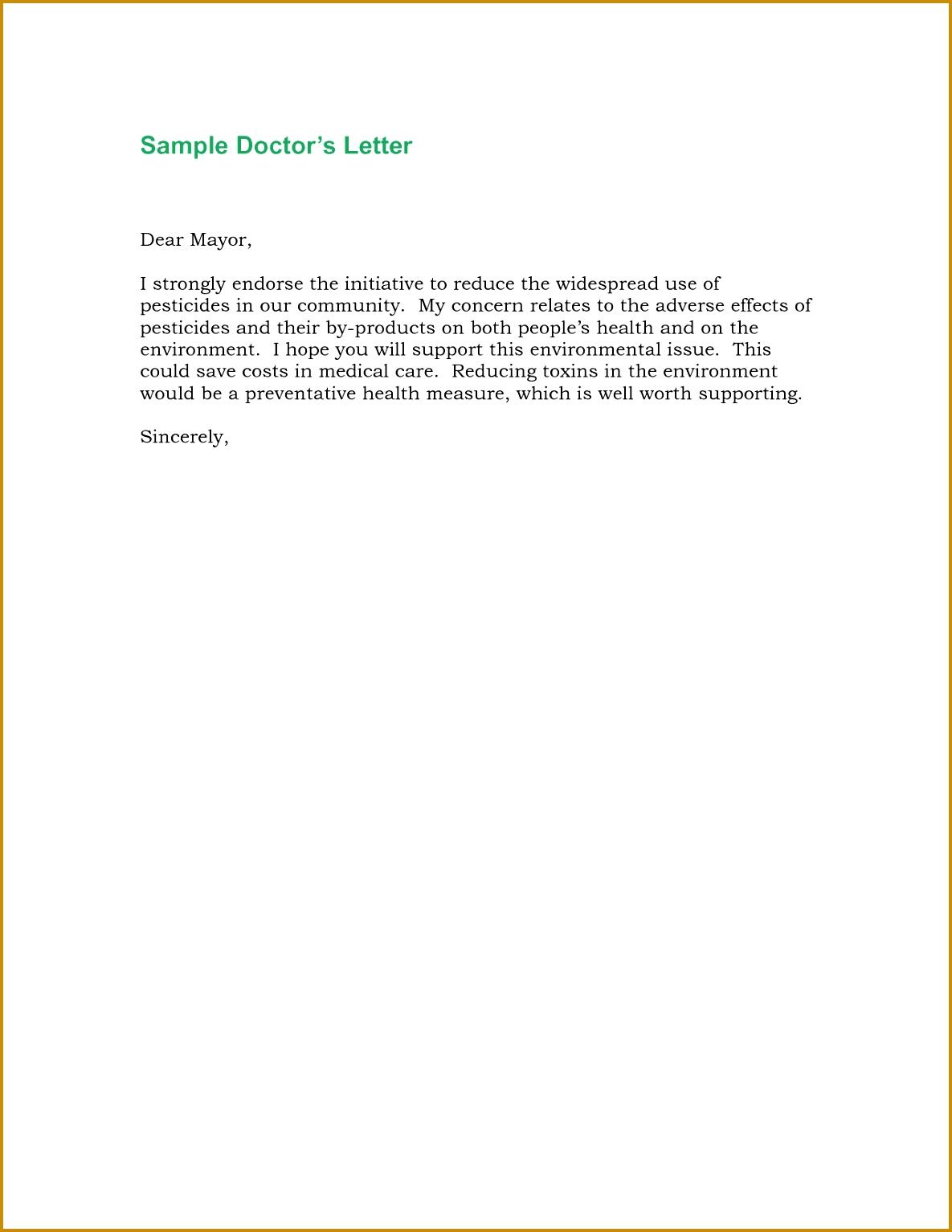 Doctor Re mendation Letter Sample 15341185
