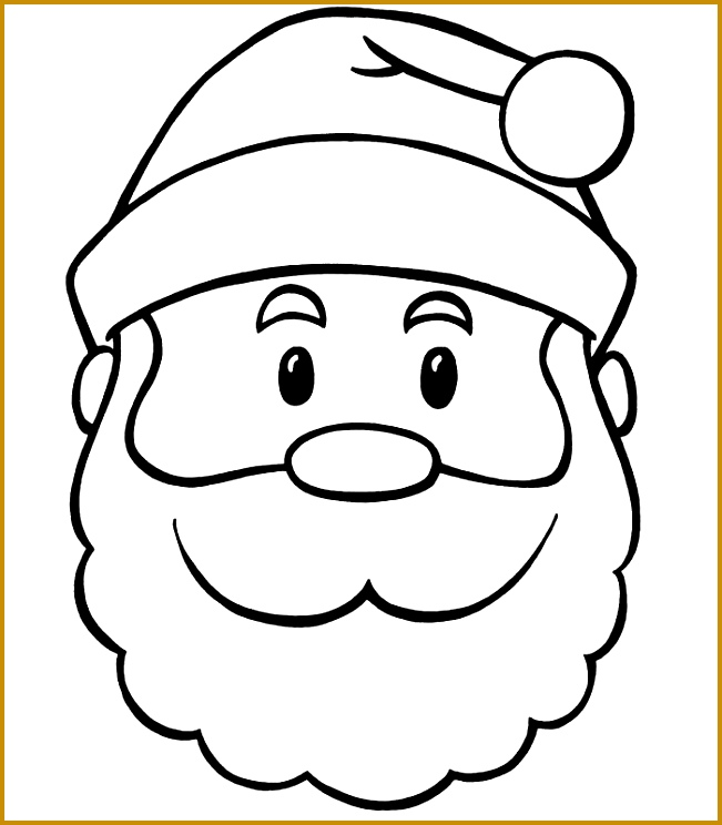 60 Best Santa Templates Shapes Crafts &amp Colouring Pages 744651