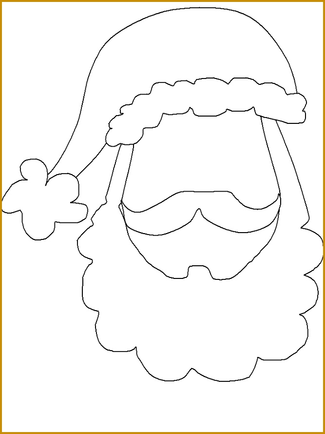 Preschool christmas crafts · Santa Face template 890667