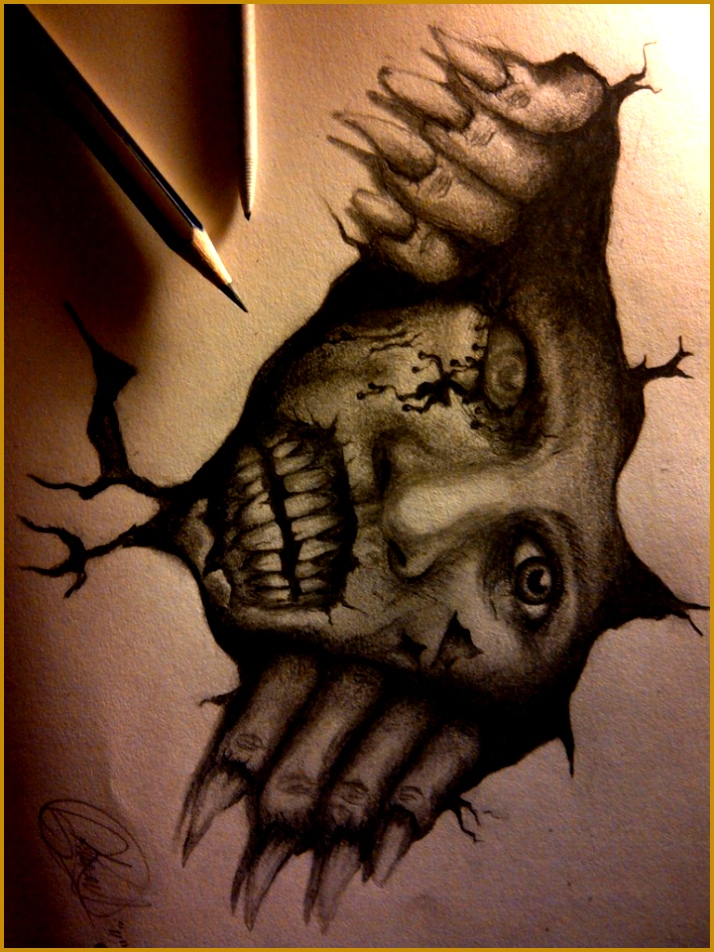Scary Drawing Ideas 01464 Scary Drawing Ideas Creepy Drawings