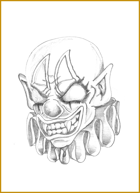 Crazy Clown Drawings for Pinterest 653475