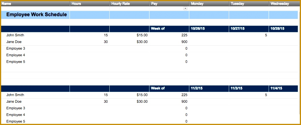 Smartsheet Work Schedule Template 4381054