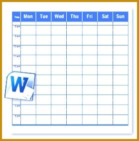 Schedule Template 282279