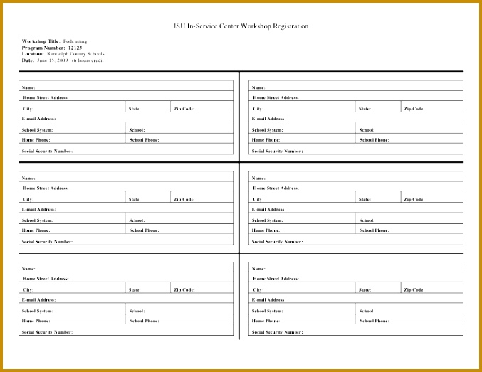 registration form template word 523677