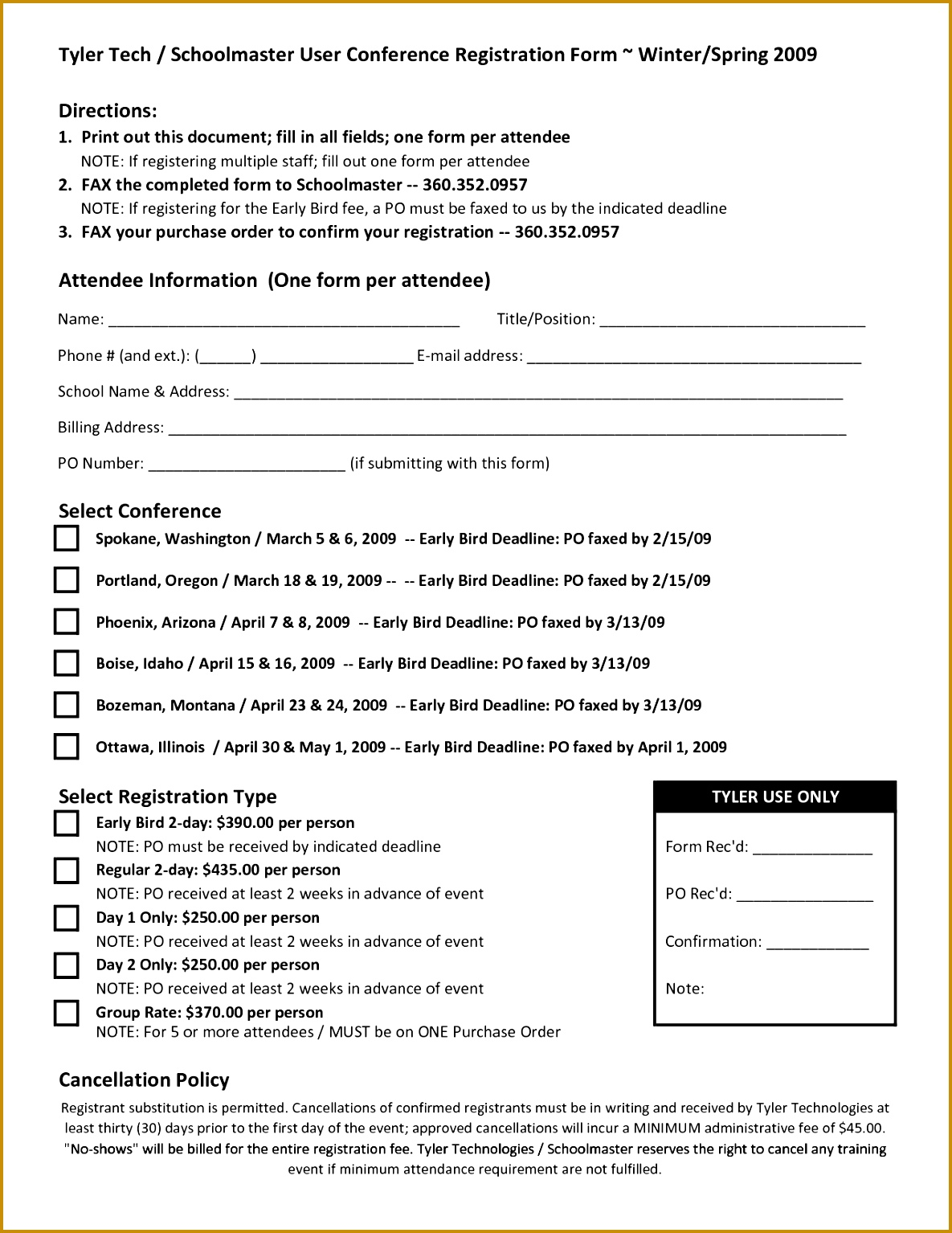 Stunning Blank And Registration Form Template Word 11851534