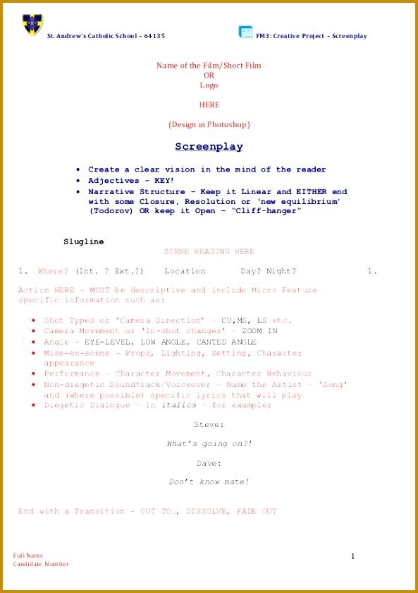 Screenplay Template 840593