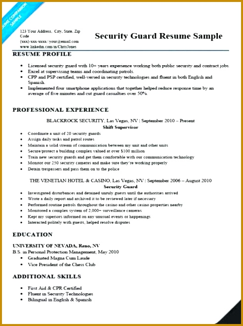 Security Guard Resume Sample Doc Security ficer Resume Sample Objective Armed Security Guard Resume Examples Security 660492