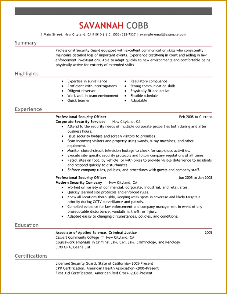 on any of the resume examples below and take the next step toward an exciting and rewarding career in law enforcement 744962