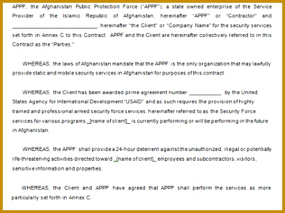 7 Security Contract Templates Free Word PDF Format 306409