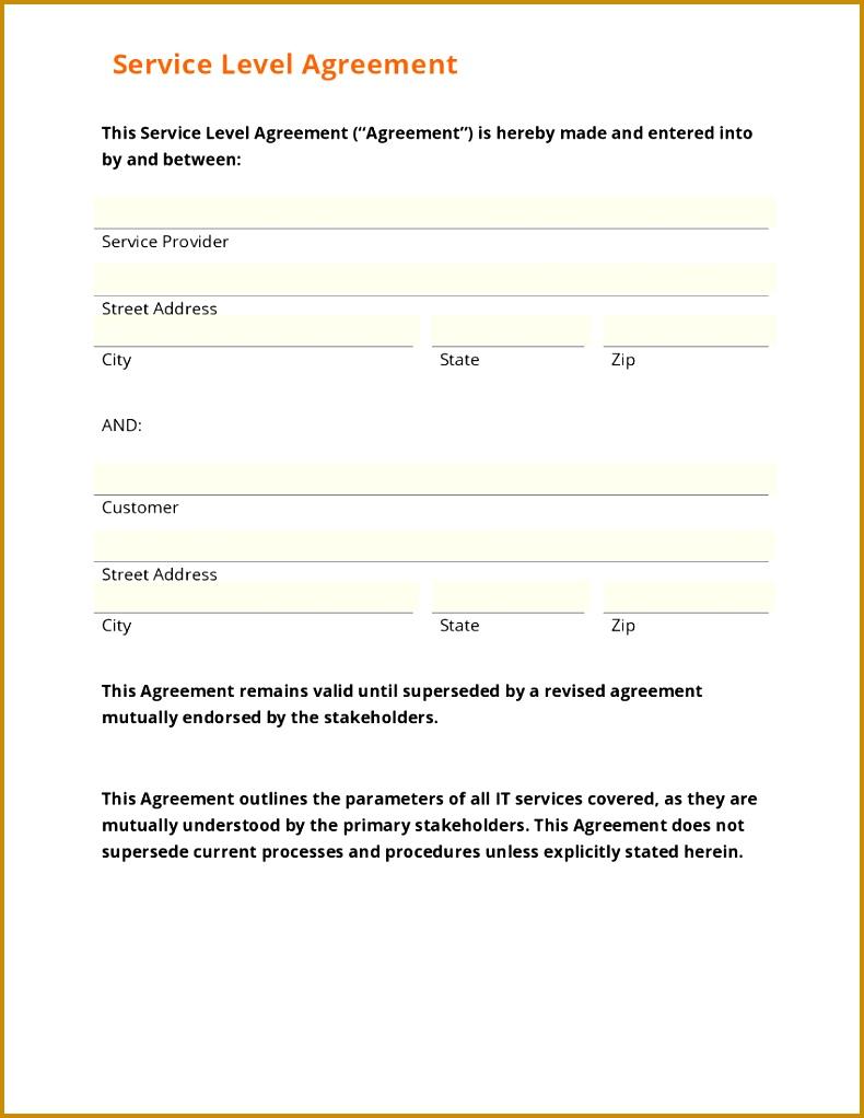 sla template doc profile security services sample sla form service 1022790
