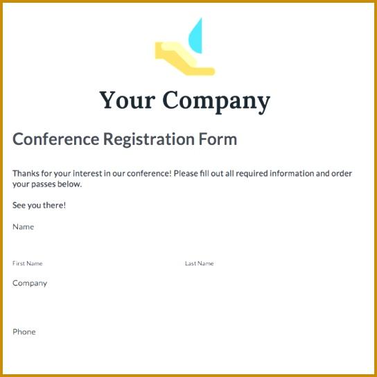 conference registration form template 544544