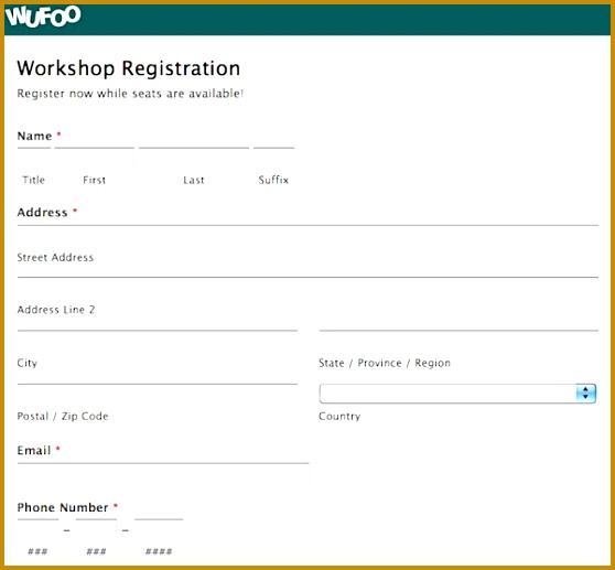 Workshop Registration Form Template Word 517558