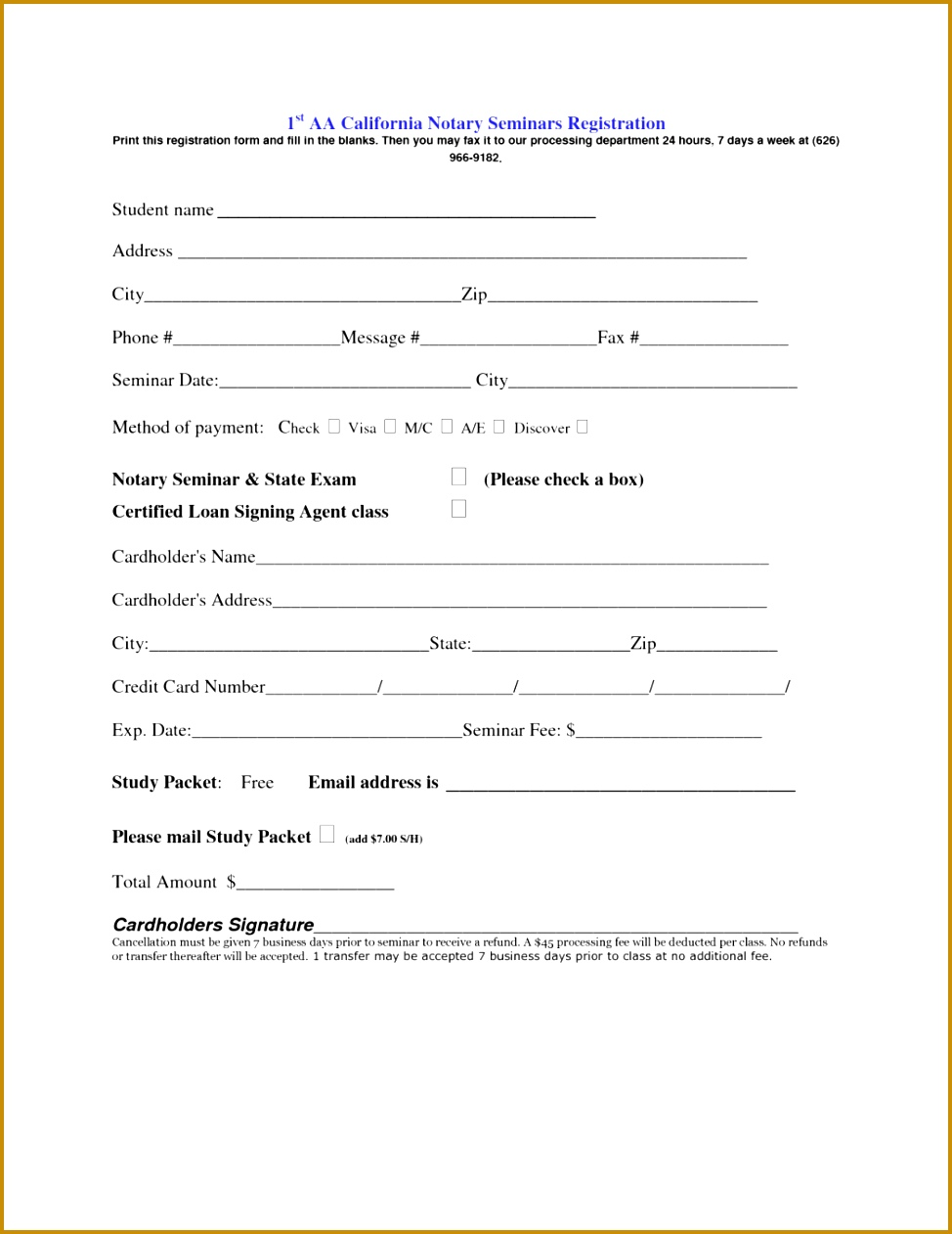 3 Seminar Registration Form Template Word Fabtemplatez