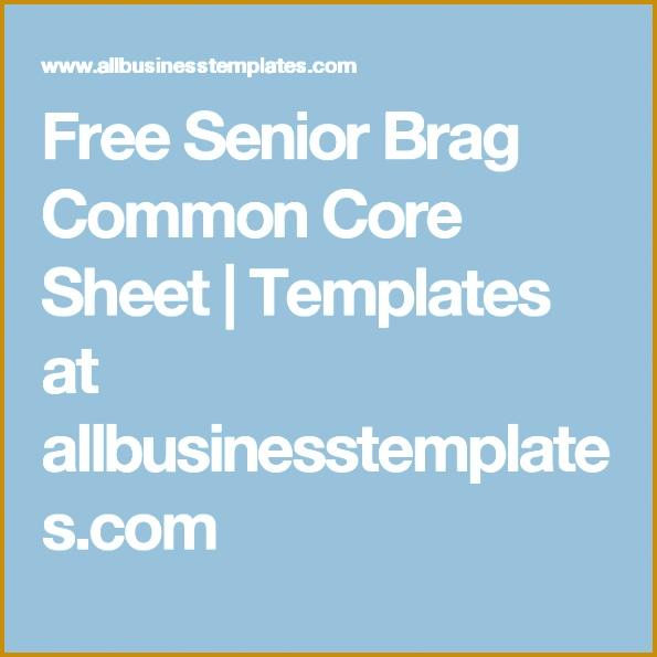 4 senior brag sheet template