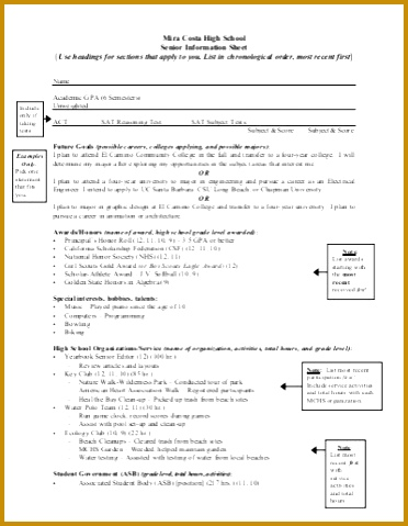 Senior Brag Sheet Template 60893 Parent Brag Sheet Re Mendation