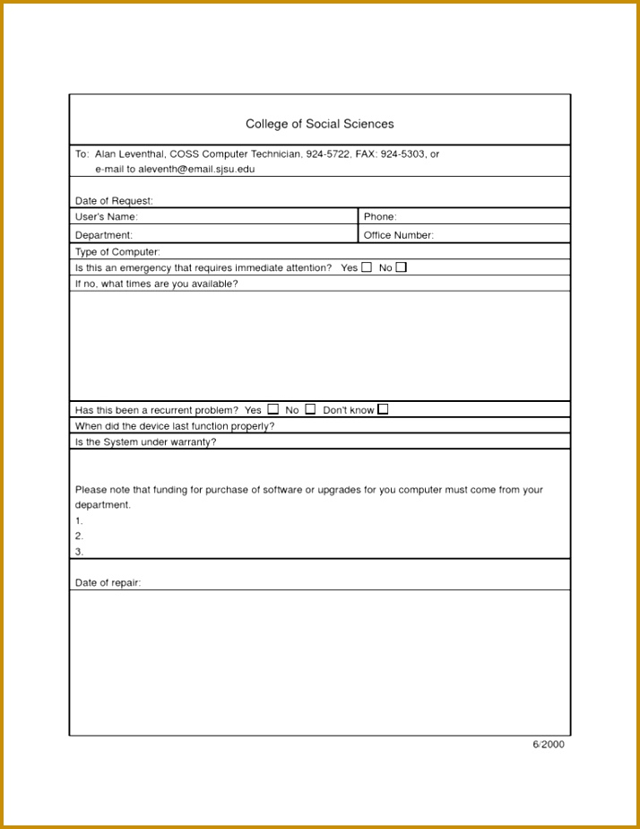 Purchase Request Form Template Free Image Collections  Template