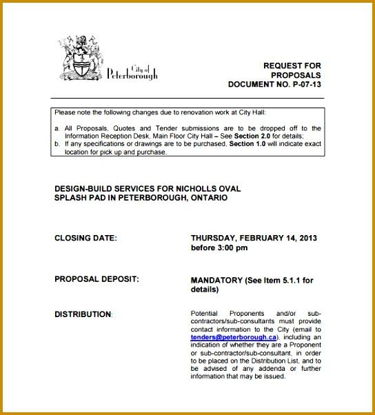 Design & Build Construction Proposal PDF Download 544602