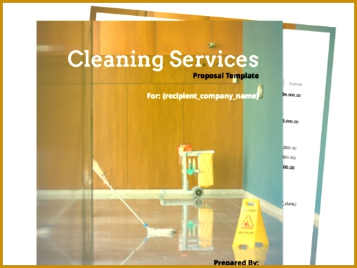 Cleaning Proposal Template 389518