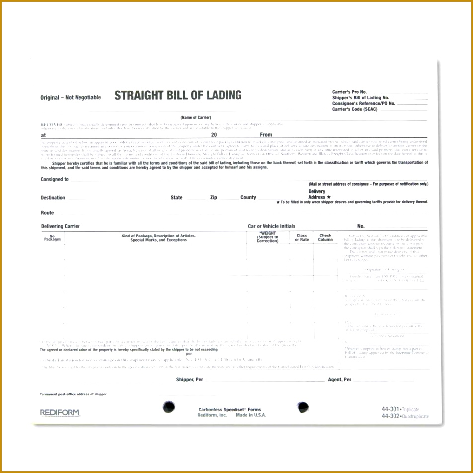 4 Short Form Bill Of Lading Template FabTemplatez FabTemplatez Short Form  Bill Of Lading Template 84682