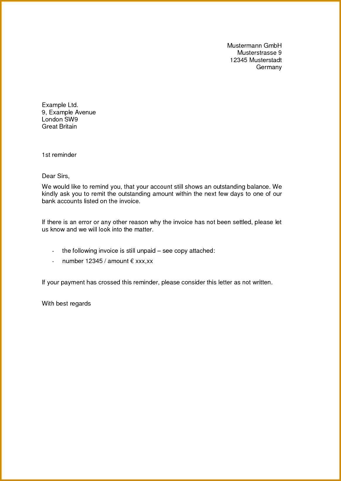 6 short termination letter