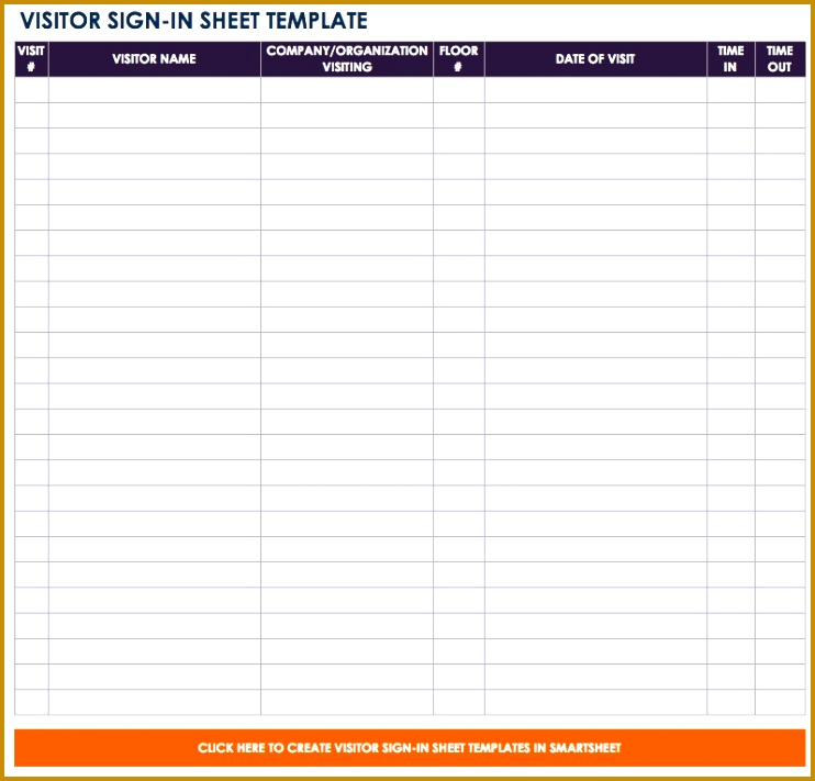 IC Visitor Sign in Sheet Template 711742