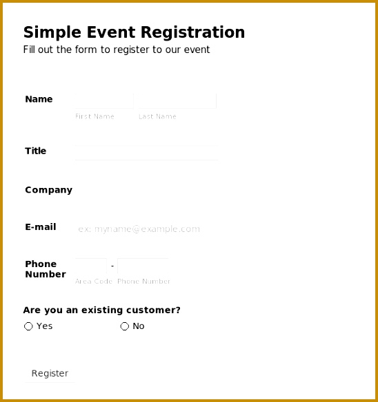 registration form template free download
