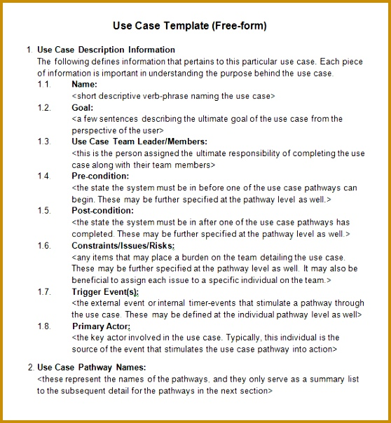 Use Case Template Word Images - Template Design Ideas