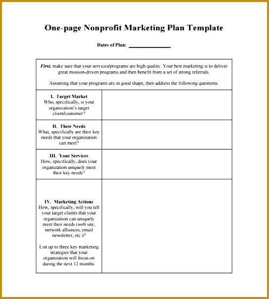 Simple Marketing Plan Template Word  Fabtemplatez
