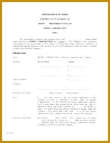 Term Sheet Template 279216