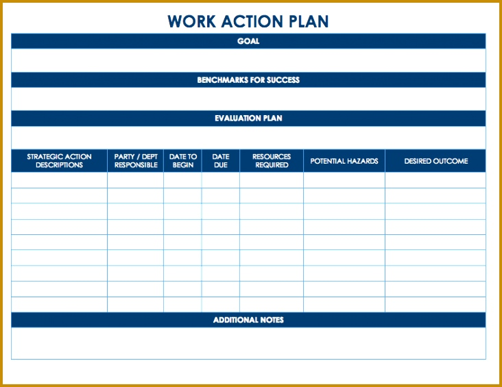 Work Action Plan Template for Word 732565