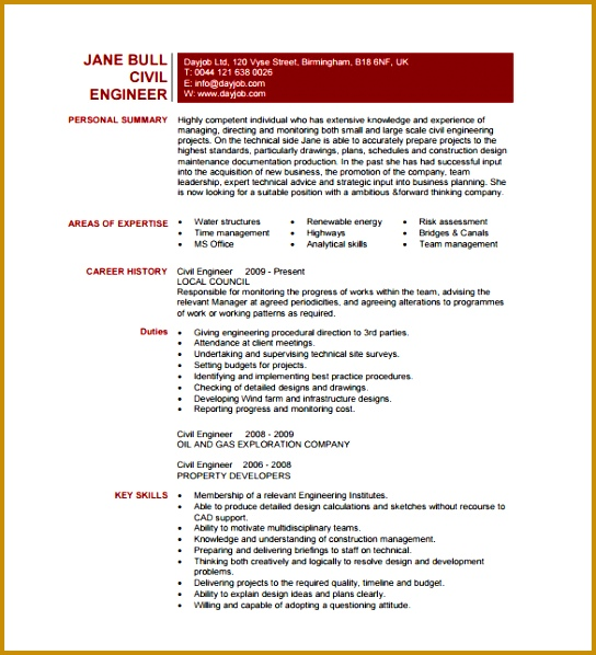 Resume Template For Fresher Ͽ� 10 Free Word Excel Pdf Format Download: 7 Site Engineer Responsibilities Pdf