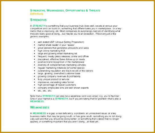 Free Sales and Marketing SWOT Analysis 465544