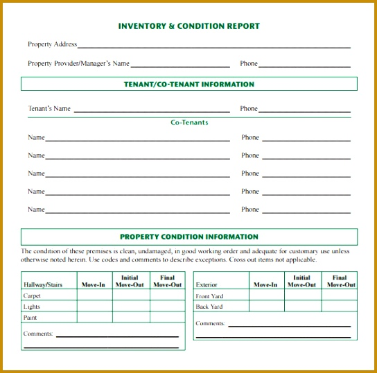 Exceptional Sample Inventory Report 10 Documents In Pdf 544539