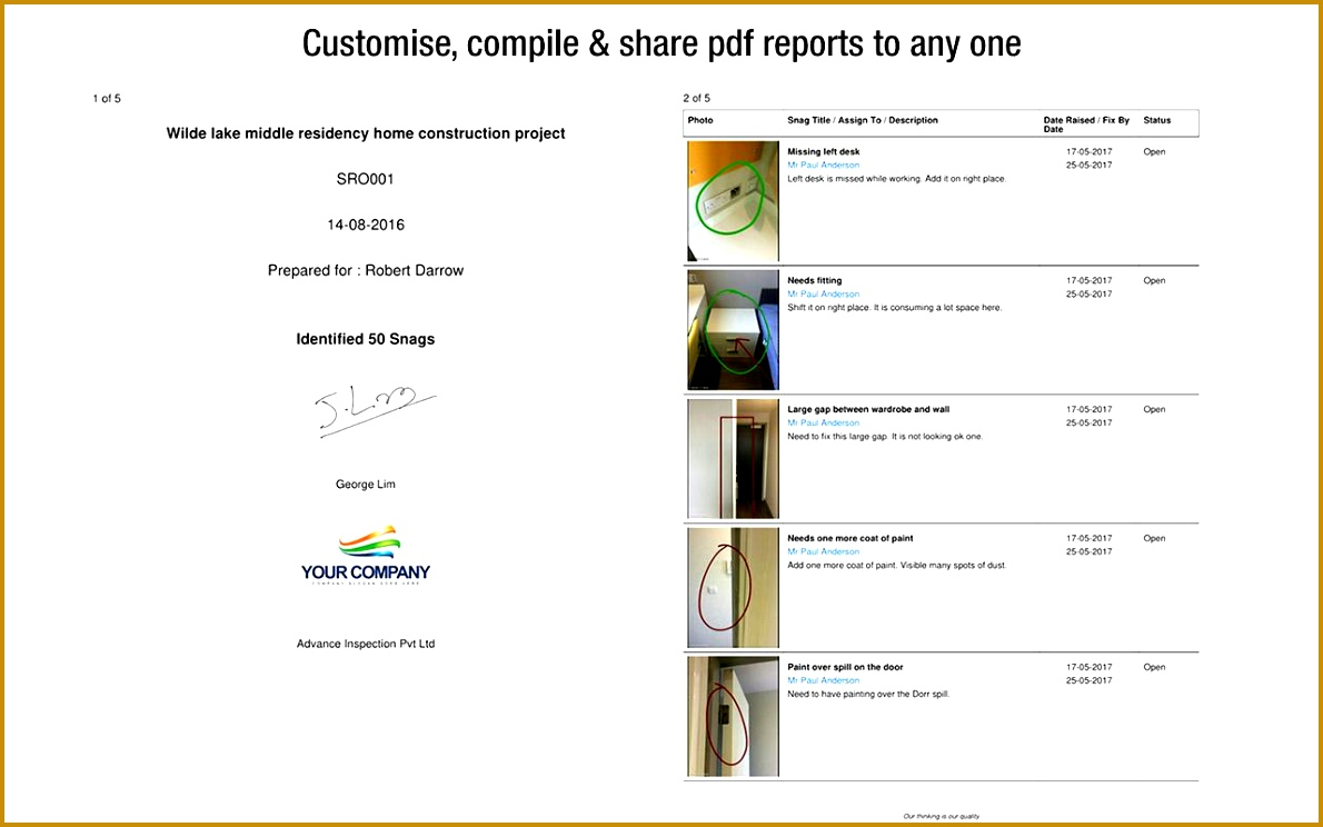 4 snagging list pdf