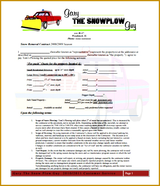 Gallery of Snow Removal Quote Template 632544