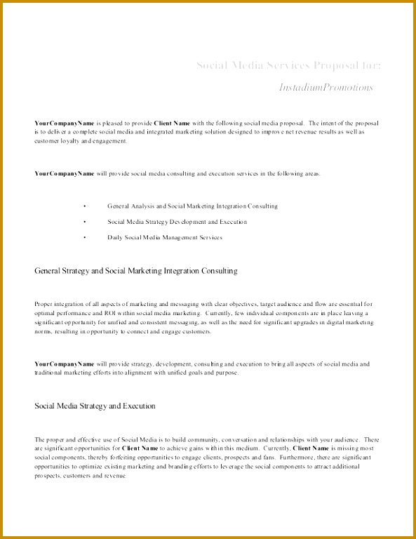 Social Media Services Proposal for 768593
