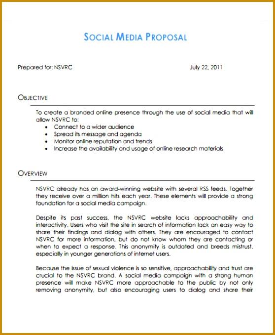 Social Media Management Proposal Template 678558