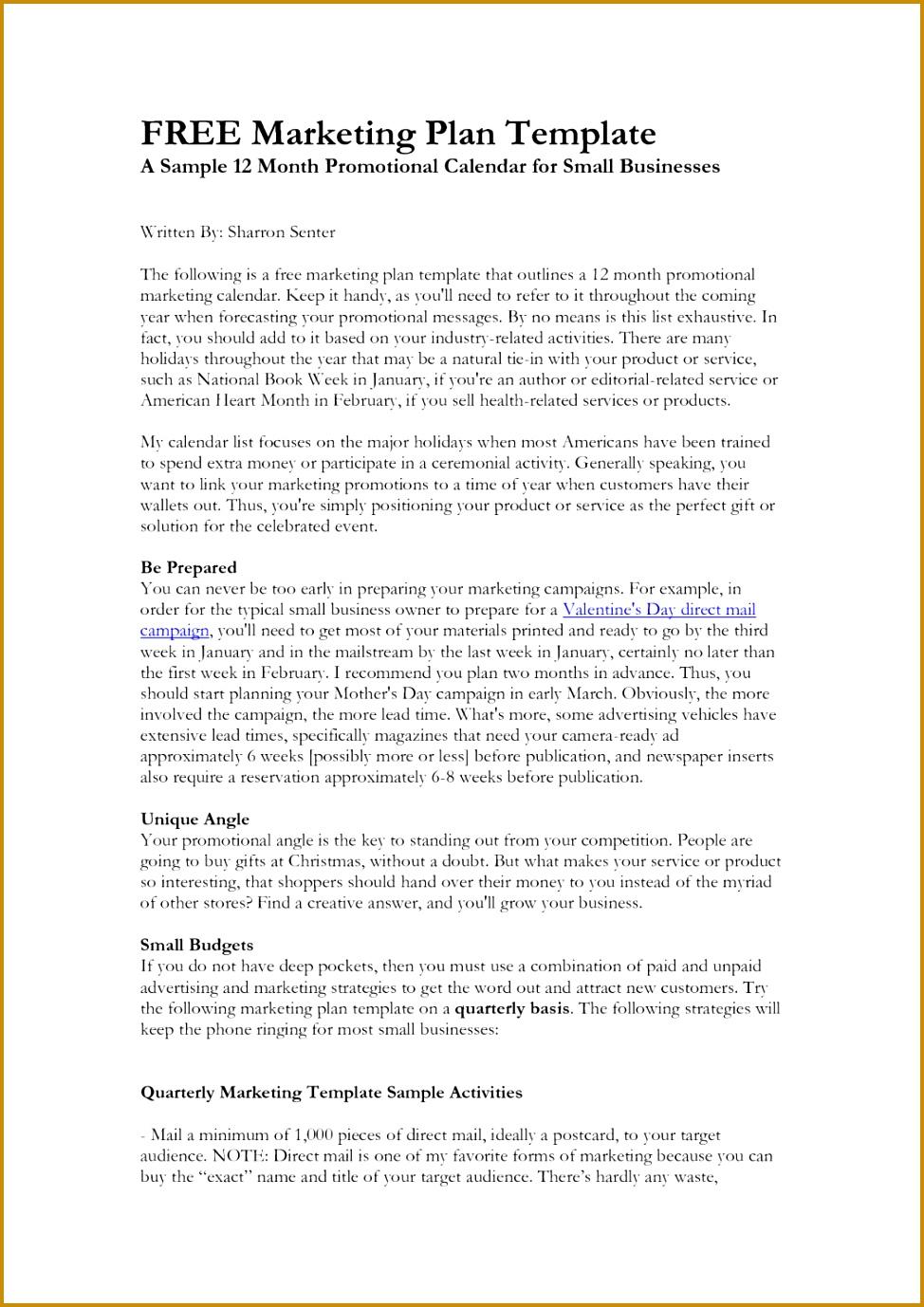 social media plan template free free marketing plan templates for excel smartsheet example 1378974