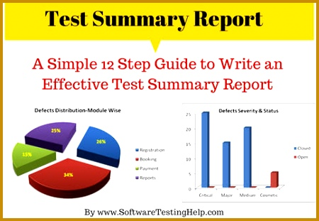 Test Summary Report is an important deliverable which is prepared at the end of a Testing project or rather after Testing is pleted 311450