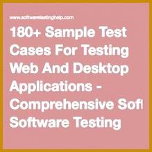 180 Sample Test Cases For Testing Web And Desktop Applications prehensive Software Testing Checklist 219219