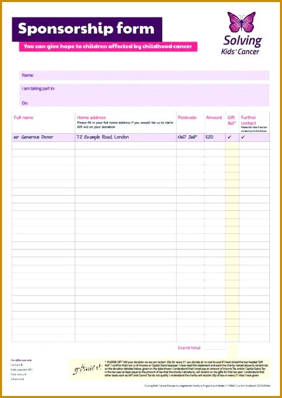 Printable Sponsor Form] Sponsorship Form Template Free Printable ...