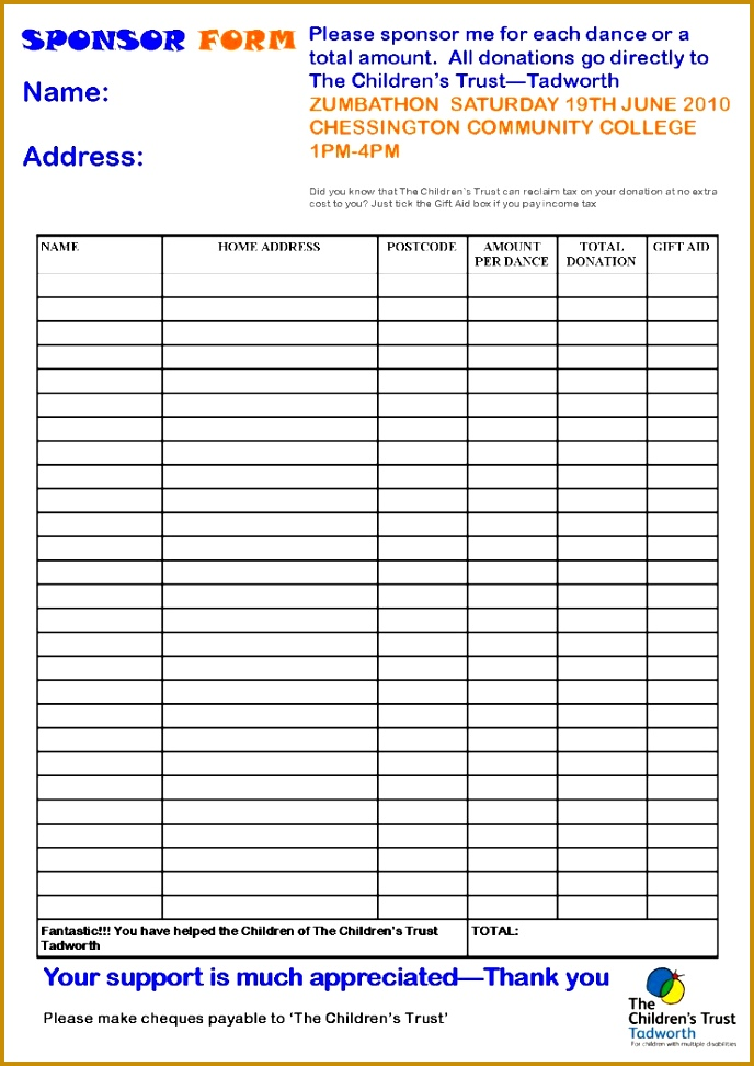 28 sponsorship form template sponsorship form template t aid 688972
