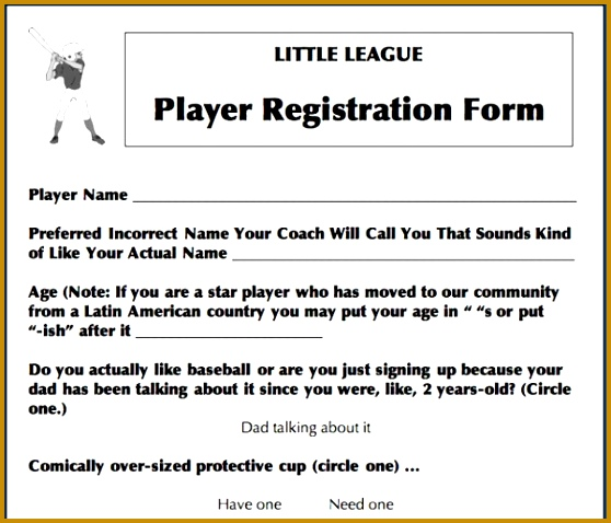 5 Sports Registration Form Template Free - Fabtemplatez - Fabtemplatez