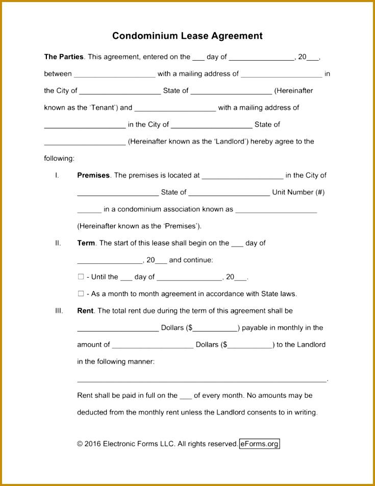 5 Standard Form Rental Agreement Fabtemplatez
