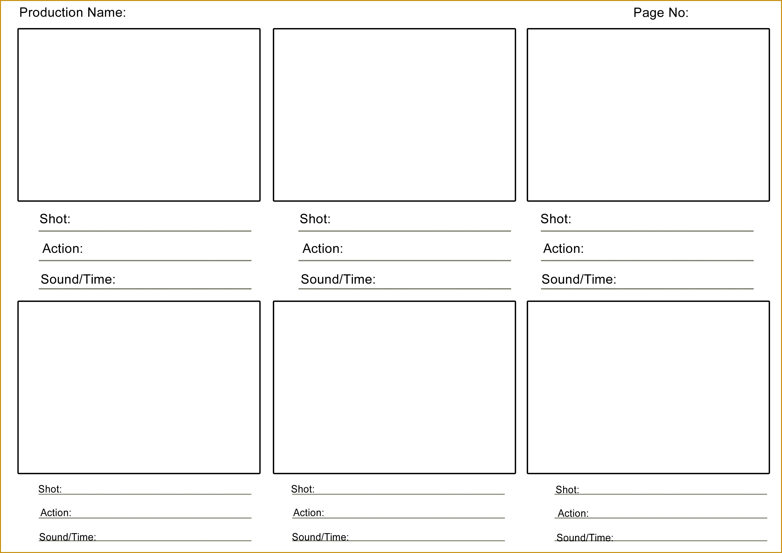 5 Storyboard Template In Word Fabtemplatez