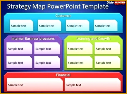 Free Strategy Map PowerPoint Template 322434