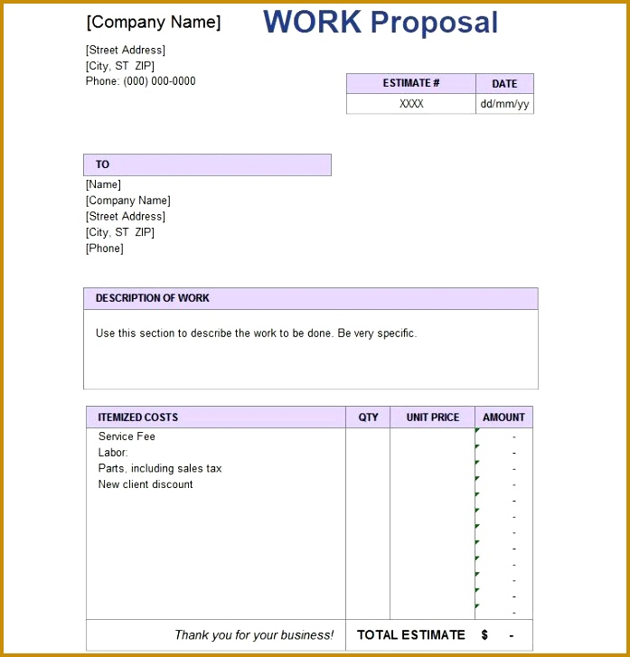 Simple Proposal Template Proposal Template To Download Sample 727697