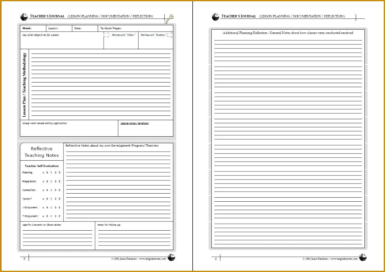 3 Student Learning Log Template | FabTemplatez