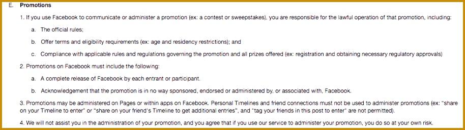 social media contest rules 256914
